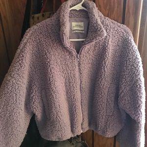 Lavender teddy coat
